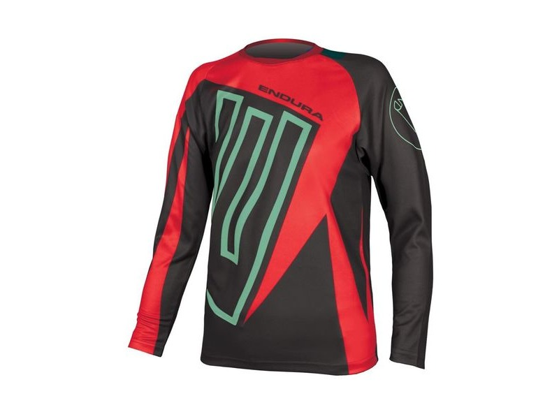 ENDURA Kids MT500JR L/S T Red click to zoom image