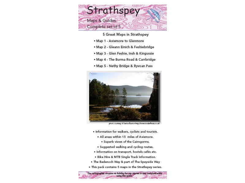 TRAILMAPS Strathspey Map Pack click to zoom image