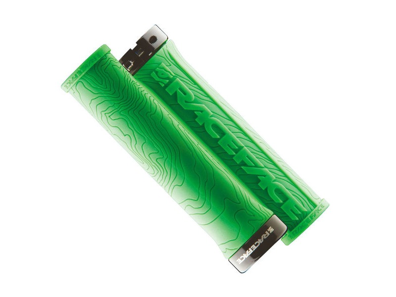 RACE FACE Half Nelson Lock On Grips Green click to zoom image