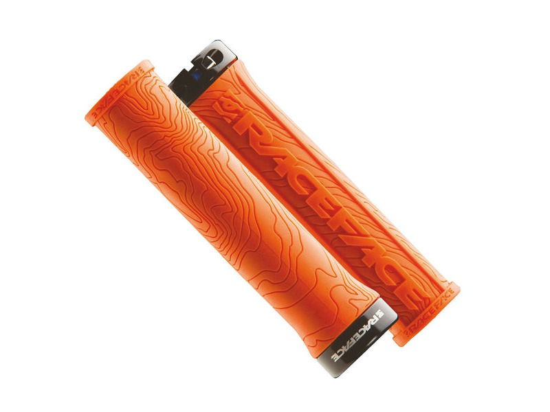 RACE FACE Half Nelson Lock On Grips Orange click to zoom image
