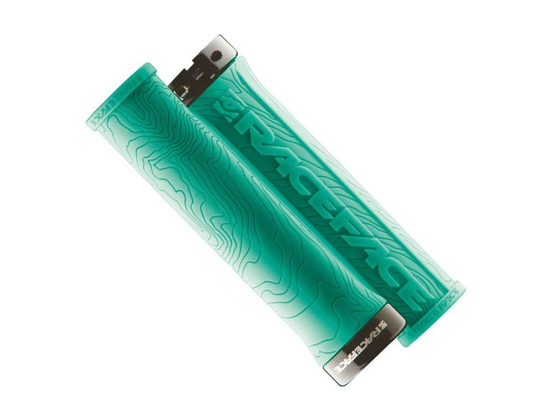 RACE FACE Half Nelson Lock On Grips Turquoise click to zoom image
