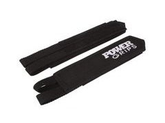 Powergrips Fat Straps Wide Black/White  click to zoom image