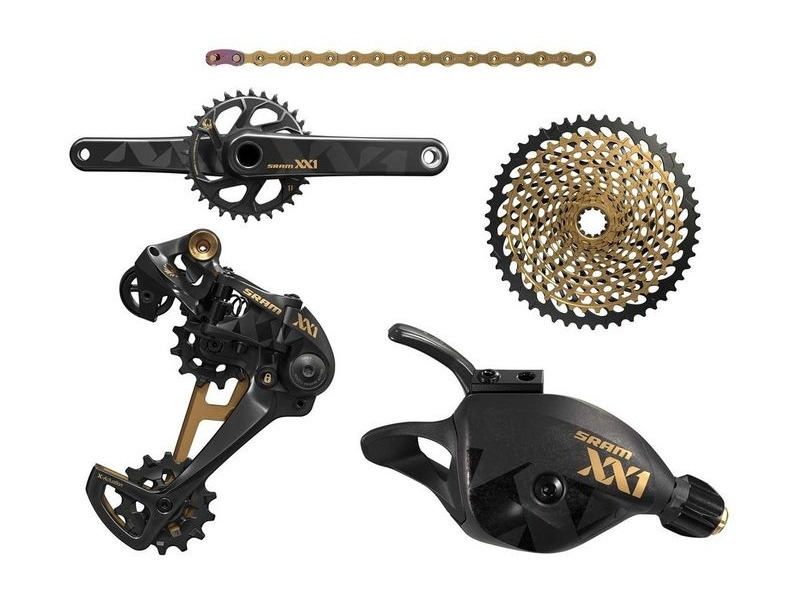 Sram XX1 Eagle Groupset Gold 10-50 click to zoom image