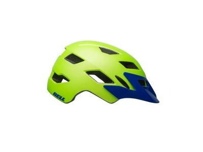 Bell Sidetrack Youth Helmet 2019: Matte Bright Green/Blue Unisize 50-57cm